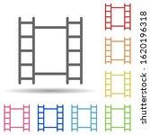 film strip in multi color style ...