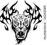 tiger tattoo  vector... | Shutterstock .eps vector #16202089