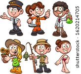 girls and boy wearing different ... | Shutterstock .eps vector #1620214705