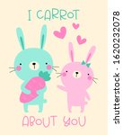 hand drawn cute couple bunny... | Shutterstock .eps vector #1620232078