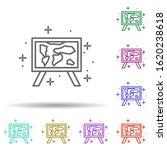 picture  map in multi color...