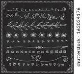 hand drawn vector line border... | Shutterstock .eps vector #162024176