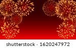 fireworks festival on red... | Shutterstock .eps vector #1620247972