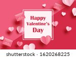 happy valentines day greeting... | Shutterstock .eps vector #1620268225
