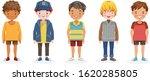 boys vector set of kids.... | Shutterstock .eps vector #1620285805