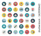 set of flat medical icons | Shutterstock .eps vector #162030662