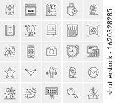 25 universal icons vector...   Shutterstock .eps vector #1620328285