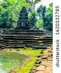 Small photo of Neak Pean (Neak Poan) artificial island with a Buddhist temple Jayatataka Baray