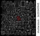 set of valentine drawing... | Shutterstock .eps vector #1620349945