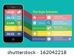 flat mobile web ui concept for... | Shutterstock .eps vector #162042218