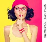 portrait of stylish women the... | Shutterstock . vector #162044285