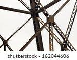 Iron Girders Of An Old Bridge
