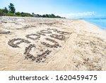Inscription Adios Cuba On The...