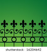 Wrought Iron Fence With Fleur...