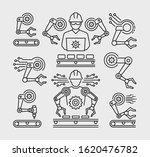 robotic manufacturing vector... | Shutterstock .eps vector #1620476782