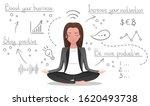 business yoga concept  woman... | Shutterstock .eps vector #1620493738