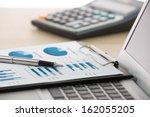 businessman analyzing... | Shutterstock . vector #162055205
