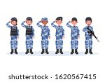 group of army  men and woman ... | Shutterstock .eps vector #1620567415