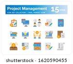 project management icons set....