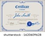 certificate of achievement... | Shutterstock .eps vector #1620609628