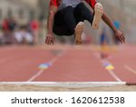 Athlete In Long Jump During...