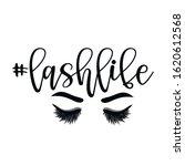 hashtag lashlife   beautiful... | Shutterstock .eps vector #1620612568