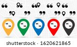 quotes  text icon. simple glyph ...