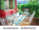 Garden Furniture On Terrace Of...