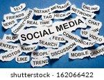 social media concept torn... | Shutterstock . vector #162066422