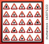 construction and hazard signs | Shutterstock .eps vector #162071222