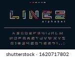 geometric color lines font....   Shutterstock .eps vector #1620717802