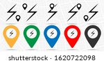 lightning icon. simple glyph...