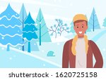 person stand on snowdrift and... | Shutterstock .eps vector #1620725158