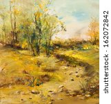 Landscape With Dirt Road  Oil...