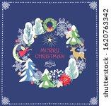 christmas craft retro greeting... | Shutterstock . vector #1620763342