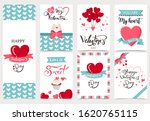 collection of valentine s day... | Shutterstock .eps vector #1620765115