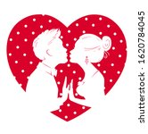 valentines day card. man and... | Shutterstock .eps vector #1620784045