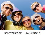 group of young and happy people ... | Shutterstock . vector #162080546