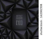 black vector geometric... | Shutterstock .eps vector #162082508