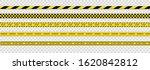 warning tapes against threats.... | Shutterstock .eps vector #1620842812