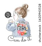 this cute little girl can do it ... | Shutterstock .eps vector #1620943528