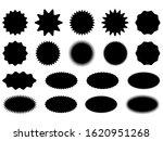starburst stickers set. black...   Shutterstock .eps vector #1620951268