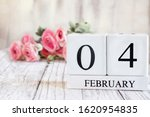 White Wood Calendar Blocks Wit...