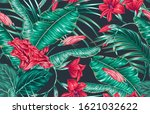 tropical blooming exotic...   Shutterstock .eps vector #1621032622