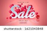 happy valentines day sale... | Shutterstock . vector #1621043848