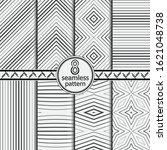 seamless vector patterns....   Shutterstock .eps vector #1621048738