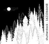 wild mountain forest landscape... | Shutterstock .eps vector #1621066648