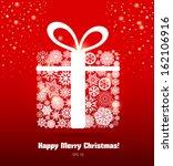 christmas gift. | Shutterstock .eps vector #162106916