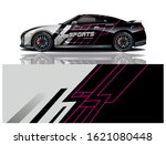 sports car wrapping decal design   Shutterstock .eps vector #1621080448