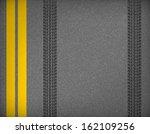detail black tire tracks on... | Shutterstock .eps vector #162109256